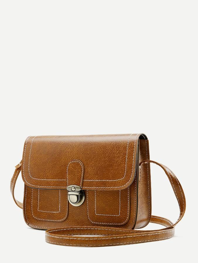 dc318bae74 Brown Stitch Bag - ShopStyle