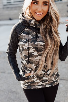 Ampersand Avenue DoubleHood Sweatshirt - Camo Accent