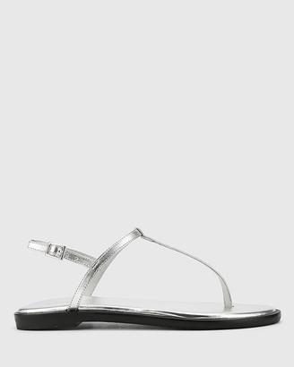 Wittner - Women's Silver Sandals - Cadderly Leather Open Toe Flat Sandals - Size One Size, 38 at The Iconic