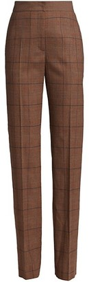 Akris Punto Chiyo Glen Check Trousers