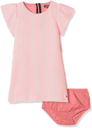 Tommy Hilfiger Girl's C Fine Stripe Dress S/s