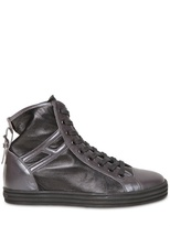 Hogan 50mm Two Tone Metallic High Top Sneakers