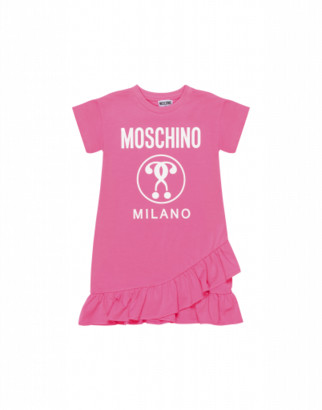 Moschino Double Question Mark Dress Woman Pink Size 4a It - (4y Us)
