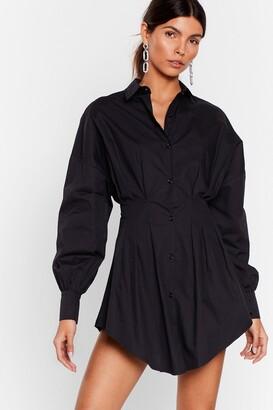 Nasty Gal Womens You're So Shirt-y Pleated Mini Dress - Black