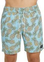 Barney Cools Amphibious Pineapple Print Swim Trunks