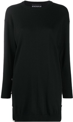 Boutique Moschino Side-Button Jumper Dress