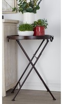 Metal and Wood Tray End Table Cole & Grey