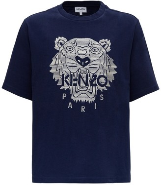 Kenzo Tiger Embroidered Oversized T-Shirt