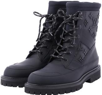 Louis Vuitton Black Rubber Boots