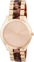 MICHAEL Michael Kors 42mm Round Bracelet Watch w/ Horn Band