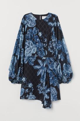 H&M Draped Dress - Blue