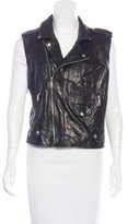 Rebecca Minkoff Crinkled Leather Vest