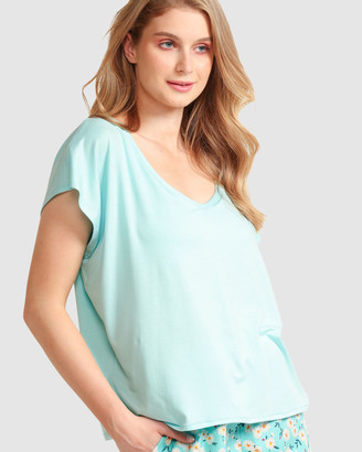SACHA DRAKE - Women's Blue Sleepwear - Chill Tee - Size One Size, 10 at The Iconic
