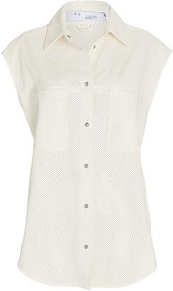 IRO Acanthi Oversized Leather Sleeveless Shirt