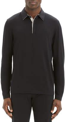 Theory Men's Sartorial Incisive Long-Sleeve Polo Shirt