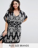 City Chic Paisley Caftan