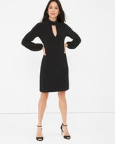 White House Black Market Black Mock Neck Shift Dress