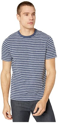 J.Crew Slub Jersey Vincent Stripe Short Sleeve Tee (Heather Ink Vincent Stripe) Men's Clothing