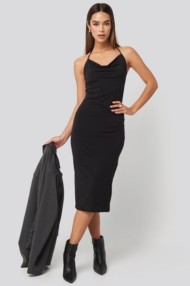 Trendyol Back Slit Midi Dress