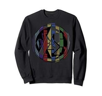 Marvel Avengers Endgame Avenger Hero Symbol Colorful Mashup Sweatshirt