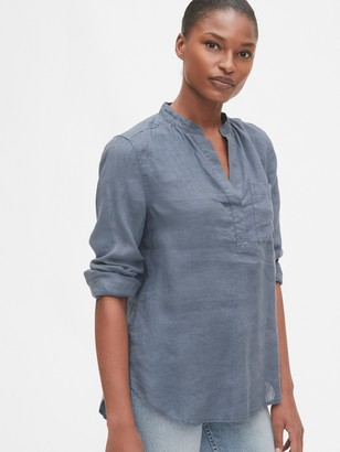 Gap Popover Pocket Shirt in Linen