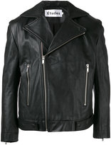 Études - 'Escape' biker jacket - men - Leather - 46