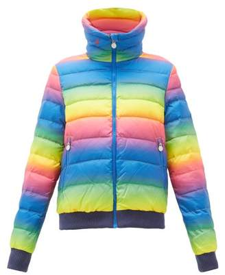 Perfect Moment Queenie Gradient-print Down-filled Ski Jacket - Womens - Rainbow