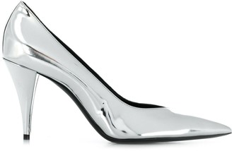 Saint Laurent Metallic Leather Pumps