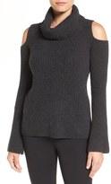 Elie Tahari Tahari 'Torrence' Cold Shoulder Cashmere Cowl Neck Sweater
