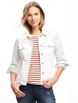 Old Navy Stay-White Denim Jacket for Women