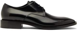 Balenciaga Square-toe Leather Derby Shoes - Mens - Black