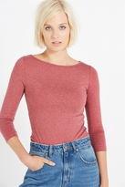 Cotton On Everyday Boat Neck 3/4 Sleeve Stretch Top