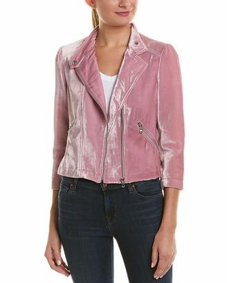 Rebecca Taylor Women's Velvet Moto Jacket
