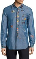 Paul Smith All Over Embroidered Shirt
