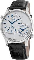 August Steiner Men's ASA810BU Stainless Steel Dual Time Watch