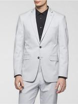 Calvin Klein X Fit Ultra Slim Fit Light Grey Poplin Suit Jacket