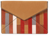 Rebecca Minkoff Leo Leather & Suede Patchwork Envelope Clutch