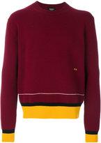 Calvin Klein intarsia stripe jumper - men - Acrylic/Cashmere/Wool - M