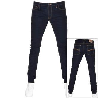 Nudie Jeans Skinny Lin Jeans Dry Deep Blue