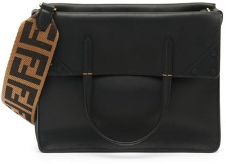 Fendi Large Flip Leather Crossbody Bag