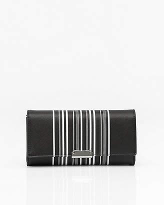 Le Château Stripe Wallet with Crossbody Strap