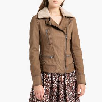 Oakwood Projection Short Zipped Jacket in Leather