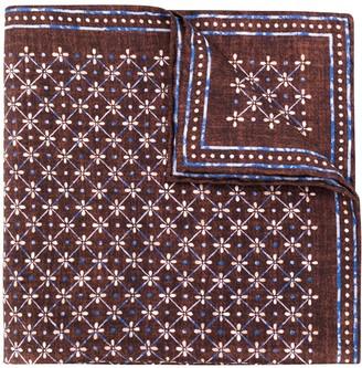 Lady Anne Geometric Floral Print Pocket Square