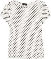 Heart-print cotton T-shirt