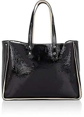 b5a892428989 Fontana Milano Women's Tum Tum Patent Leather & Shearling Tote Bag - Black
