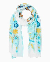 Charming charlie Watercolor Paisley Blanket Scarf