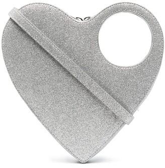 Coperni Glittered Heart Bag