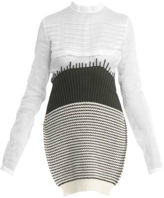 Loewe Wool Knit & Organdy Long-Line Top