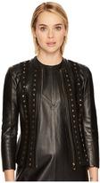 Versace Studded Leather Jacket Women's Coat