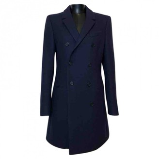 Balenciaga Navy Wool Coat for Women